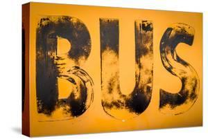 Aged Yellow Bus Sign by Mr Doomits
