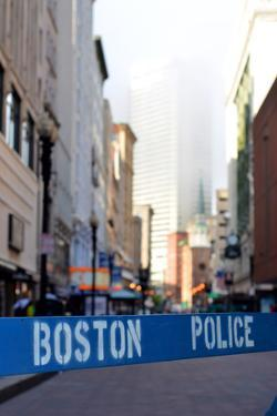 Boston Police Barrier by Mr Doomits