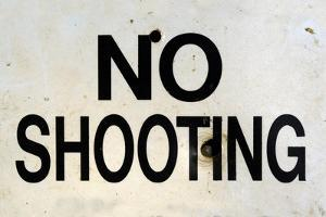 Damaged No Shooting Sign by Mr Doomits