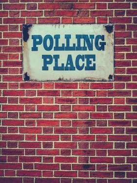 Polling Place Sign on Wall by Mr Doomits