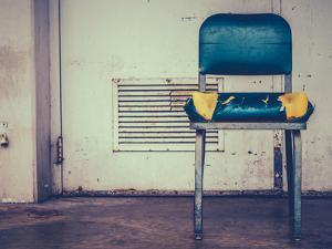 Retro Damaged Chair by Mr Doomits