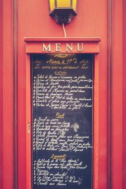 Retro Paris Restaurant Menu by Mr Doomits
