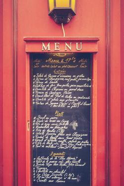 Retro Paris Restaurant Menu by Mr Doomits