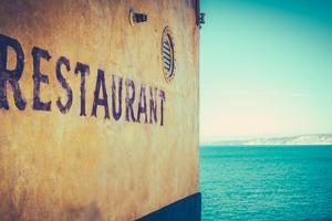 Retro Rustic Restaurant by the Sea by Mr Doomits