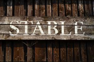 Rustic Stable Sign by Mr Doomits