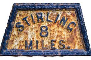 Stirling Mile Marker Sign by Mr Doomits