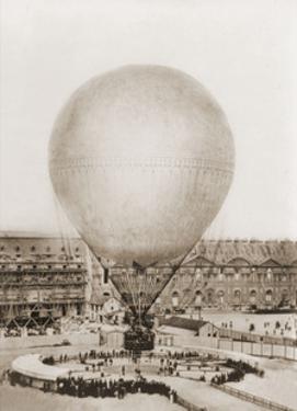Mr. Henry Giffard's Balloon at the Tuilleries, 1878