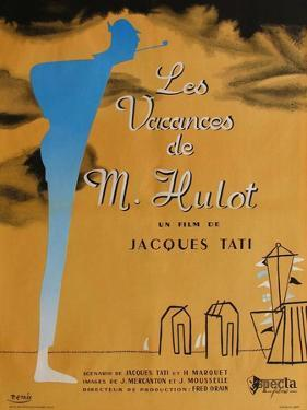 Mr. Hulot's Holiday, French Movie Poster, 1953