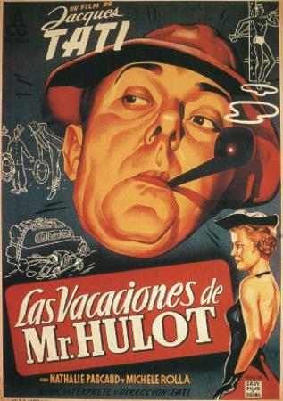 Mr. Hulot's Holiday, Spanish Movie Poster, 1953