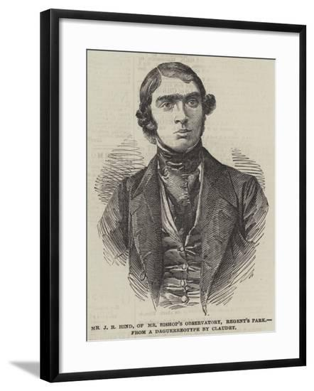 Mr J R Hind, of Mr Bishop's Observatory, Regent's Park--Framed Giclee Print