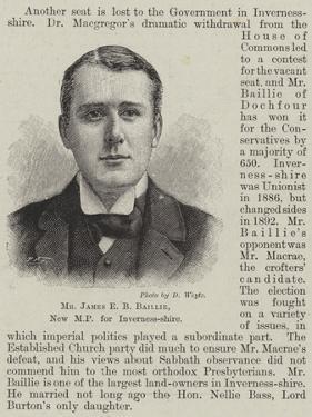 Mr James E B Baillie, New Mp for Inverness-Shire