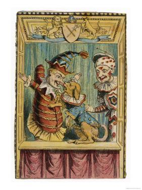 Mr. Punch with Toby the Dog and a Clown