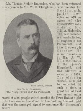 Mr T a Bramsdon, the Newly Elected Mp for Portsmouth