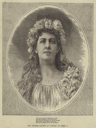 Mrs Charles Calvert as Chorus in Henry V
