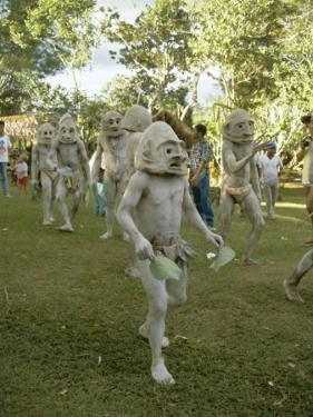 Mudmen from Asaro Parade as Ancestral Spirits, Papua New Guinea by Mrs Holdsworth