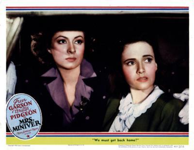 Mrs. Miniver, from Left, Greer Garson, Teresa Wright, 1942