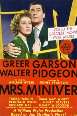 Mrs. Miniver - Movie Poster Reproduction