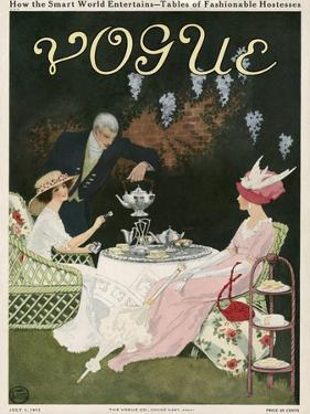 Vogue Cover - July 1911 by Mrs. Newell Tilton