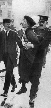 Mrs Pankhurst, Arrested Outside Buckingham Palace, London, 1914