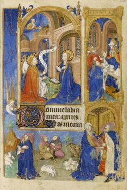 Ms 39-1950 F.26R the Annunciation and Annunciation to the Shepherds, 1464