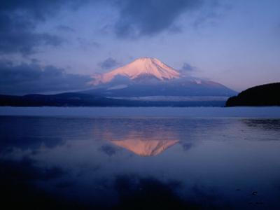 Mt. Fuji and Lake Yamanaka at Dawn
