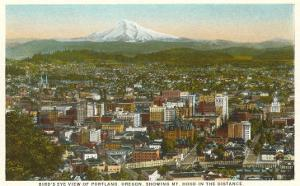 Mt. Hood over Portland, Oregon