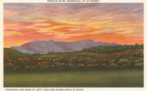 Mt. Mansfield at Sunset, Vermont