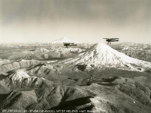 Mt. St. Helens - Mt. Rainier, 1937