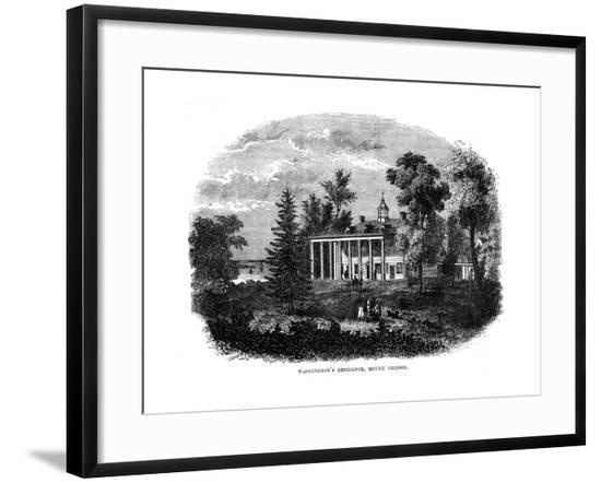 Mt Vernon Garden--Framed Giclee Print