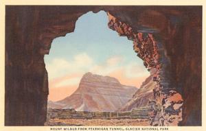 Mt. Wilbur from Ptarmigan Tunnel, Glacier Park, Montana
