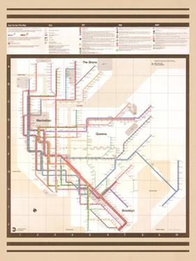 MTA Map Vignelli Vintage
