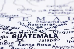 Close Up Of Guatemala On Map by mtkang