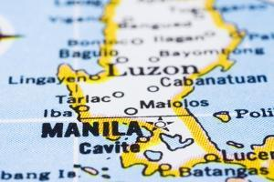 Close Up Of Manila On Map, Philippines by mtkang