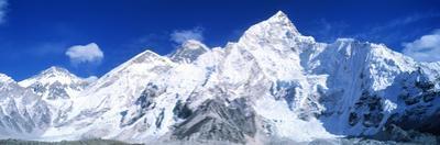 Mts Everest and Nuptse Sagamartha National Park Nepal