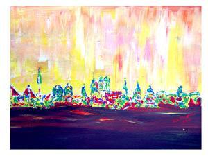 Muc Skyline In Neon Hell 2 by M Bleichner