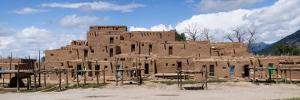 Mud Houses in a Village, Taos Pueblo, New Mexico, USA