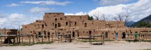 Mud Houses in a Village, Taos Pueblo, New Mexico, USA
