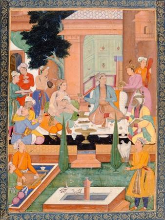 A Prince and Companions Take Refreshments and Listen to Music, from the Small Clive Album