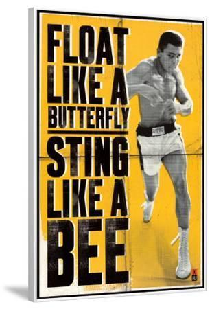 Muhammad Ali - Float like a Butterfly--Framed Poster
