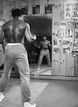 Muhammad Ali- Mirror Stare Down