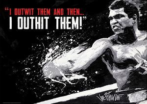 Muhammad Ali - Outwit Outhit Boxing Sports Poster