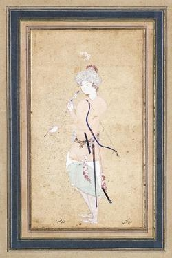 A Young Archer, C. 1580 by Muhammadi Musawwir