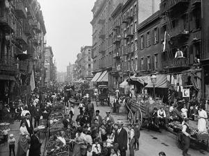Mulberry Street in New York City's Little Italy Ca, 1900