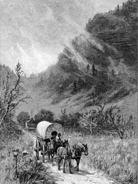 Mule Wagon Passing Through the Cumberland Gap, Kentucky