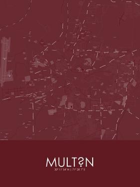 Multan, Pakistan Red Map