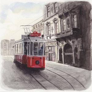 Cityscape of Istanbul, Turkey, Illustration by Multi-bits