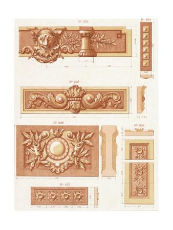Multiple Bas-Relief Borders with Scrollwork and Leaves