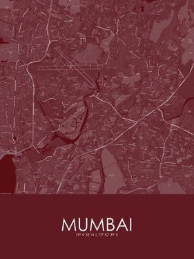Mumbai, India Red Map