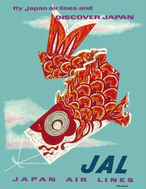 Discover Japan - Fly Japan Air Lines (JAL) - Japanese Koinobori (Carp Streamer) by Murakoshi