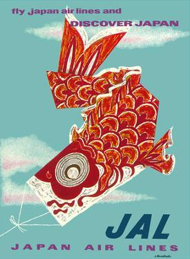 Discover Japan - Fly Japan Air Lines (JAL) - Japanese Koinobori (Carp Streamer) by Murakoshi